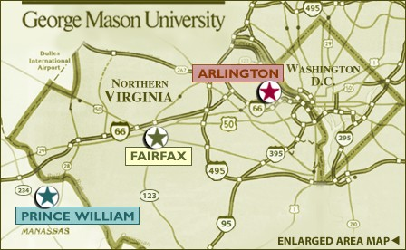 Gmu Fairfax Campus Map. Overhead View Of The Science And ...